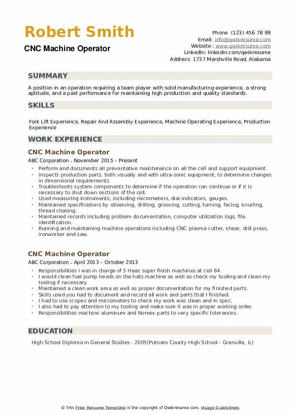 cnc machine operator resume samples qwikresume sample for position pdf include address on Resume Sample Resume For Machine Operator Position