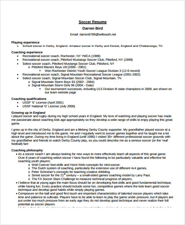coach resume template free word pdf document downloads premium templates objective for Resume Objective For Coaching Resume