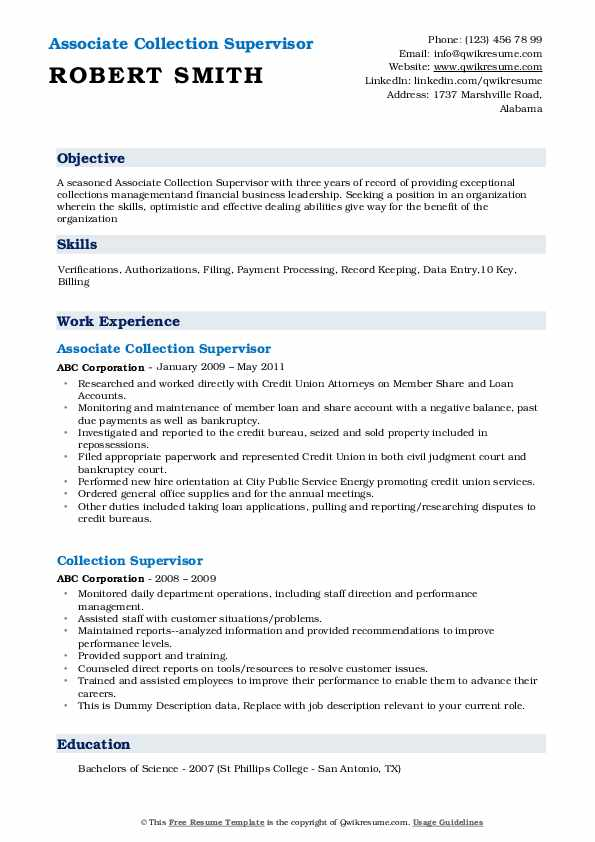 collection supervisor resume samples qwikresume credit and collections pdf home care Resume Credit And Collections Supervisor Resume
