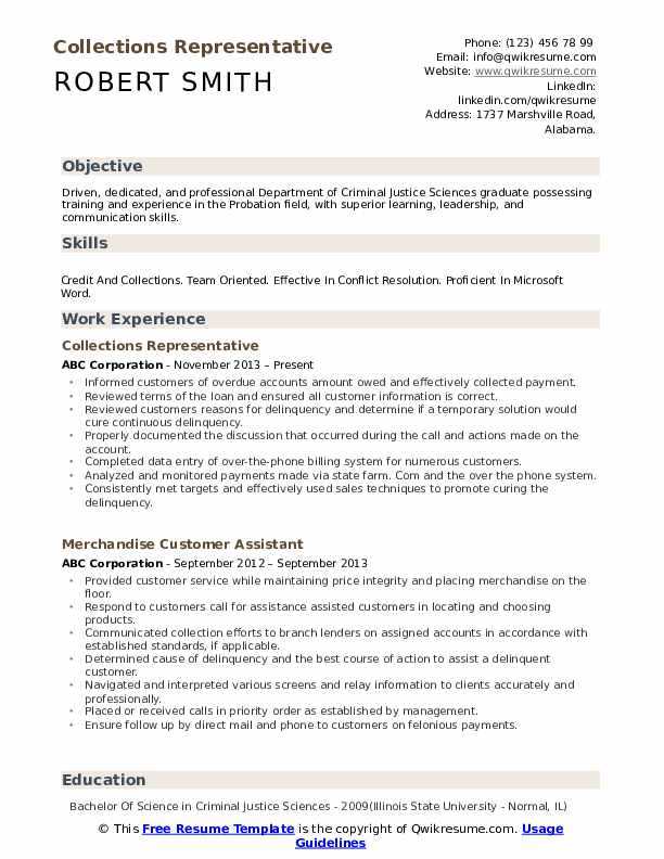 collections representative resume samples qwikresume pdf summary for engineering students Resume Collections Representative Resume