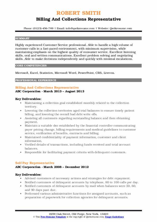 collections representative resume samples qwikresume pdf template for high school student Resume Collections Representative Resume