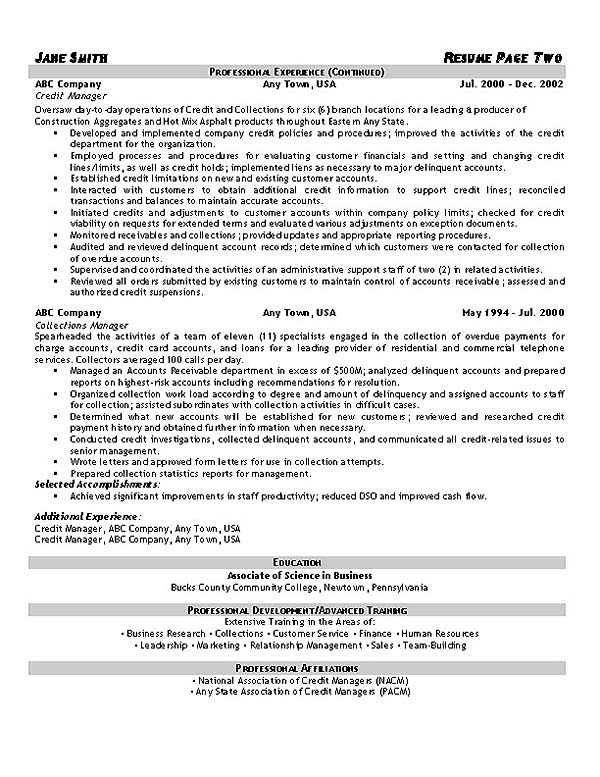 collections resume example representative collections2 writing services accounts payable Resume Collections Representative Resume