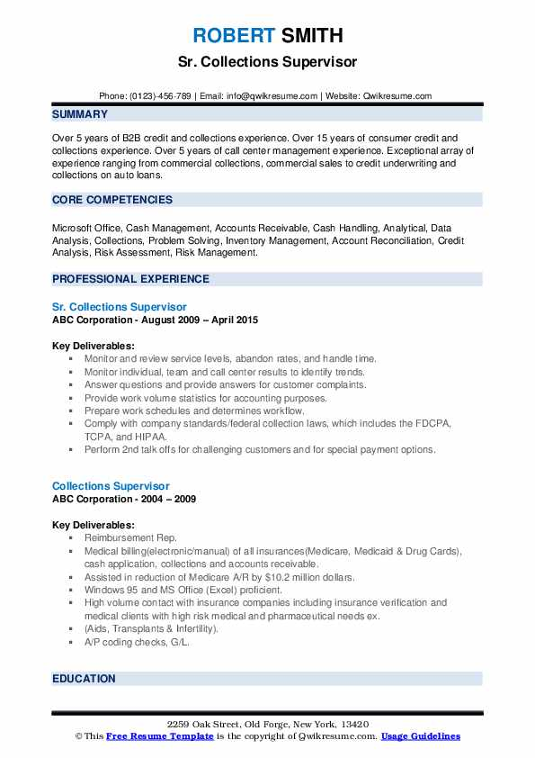 collections supervisor resume samples qwikresume credit and pdf information security Resume Credit And Collections Supervisor Resume