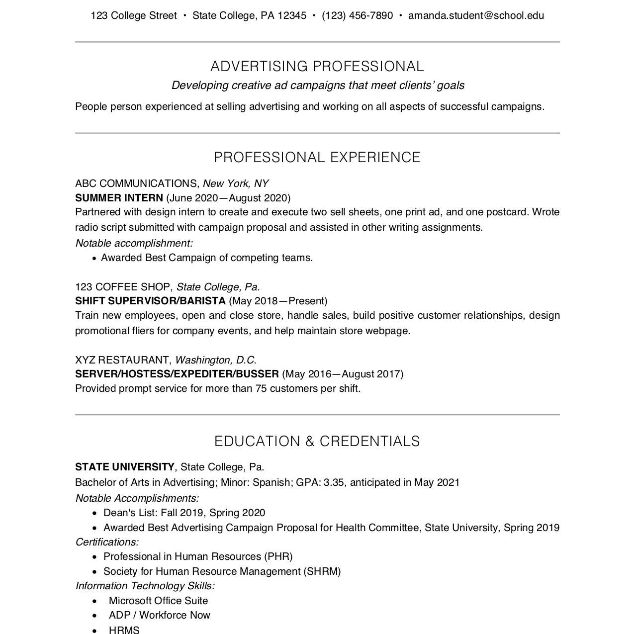 college student resume example and writing tips extracurricular format 2062302res with Resume Extracurricular Resume Format