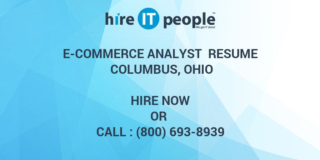 commerce analyst resume hire it people we get done ecommerce project administrator Resume Ecommerce Analyst Resume