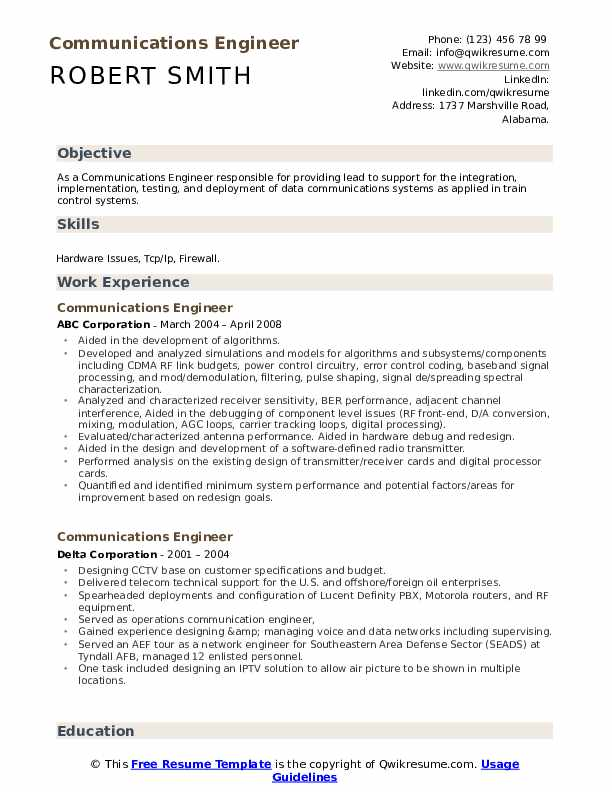 communications engineer resume samples qwikresume ip telephony pdf after being fired Resume Ip Telephony Engineer Resume