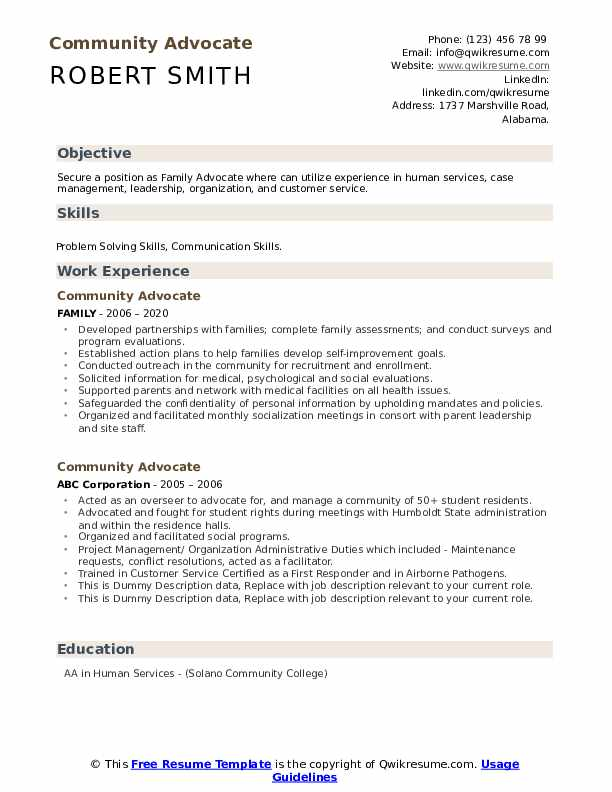 community advocate resume samples qwikresume human rights objective pdf worthy skills for Resume Human Rights Resume Objective
