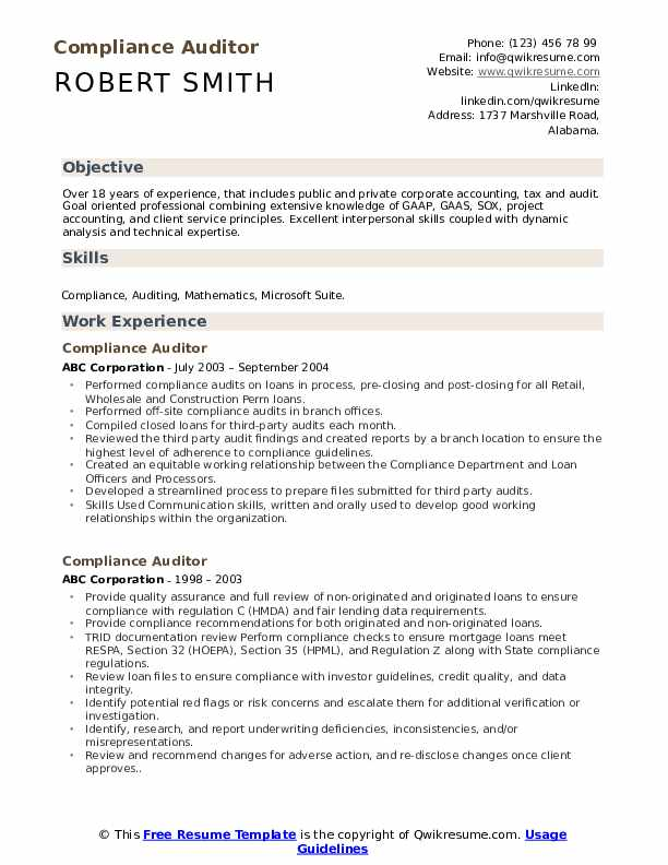 compliance auditor resume samples qwikresume career objective for pdf accounts receivable Resume Career Objective For Auditor Resume