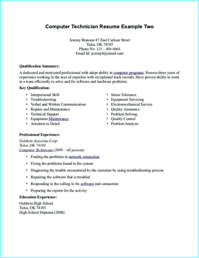 computer technician resume examples best entry level pharmacy samples sample tips for Resume Entry Level Pharmacy Technician Resume Samples