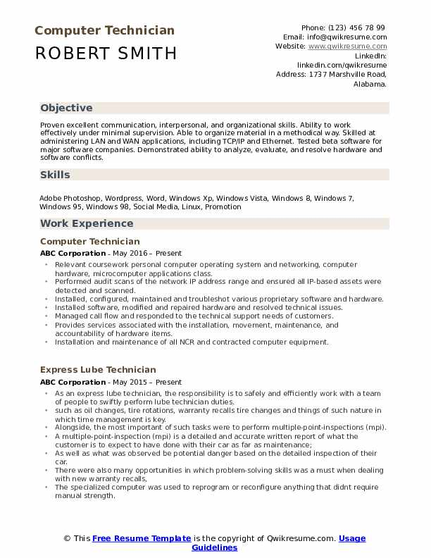 computer technician resume samples qwikresume service pdf cpr and first aid certification Resume Computer Service Technician Resume