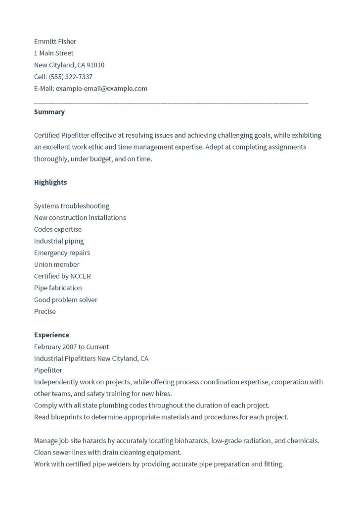 construction pipefitter resume pdf format database org 724x1024 chief of staff scheduling Resume Construction Pipefitter Resume