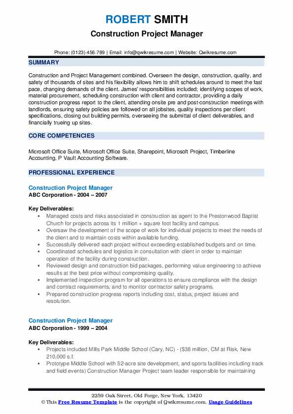 construction project manager resume samples qwikresume examples pdf ayurvedic doctor Resume Construction Project Manager Resume Examples