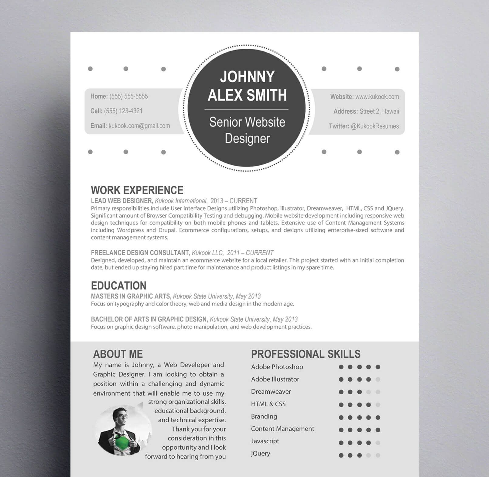 contemporary resume for creative modern template graphic general objective job fair Resume Contemporary Modern Resume Template