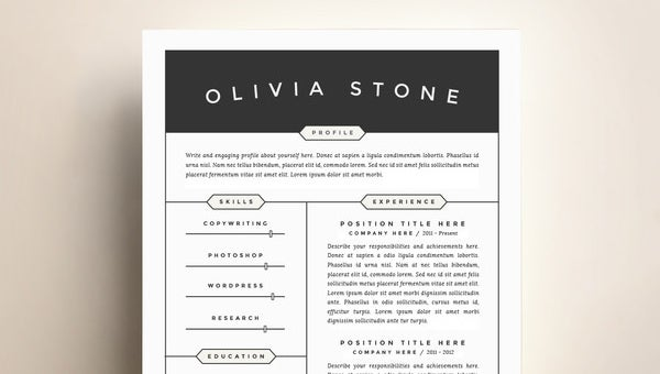 contemporary resume template free word excel pdf format premium templates modern general Resume Contemporary Modern Resume Template