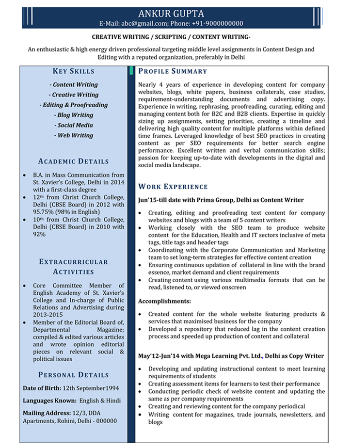 content writer resume samples sample for naukri boilermaker network engineer Resume Content Writer Resume Samples