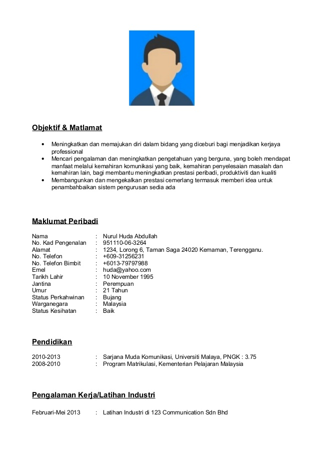contoh resume bahasa melayu dalam deli experience data migration project manager case Resume Contoh Resume Dalam Bahasa Melayu