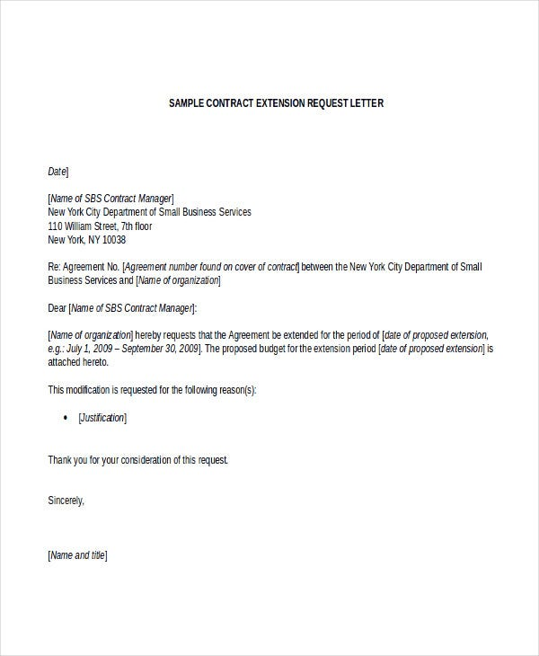 contract letter template free sample example format premium templates employee extension Resume Employee Contract Extension Letter Resume