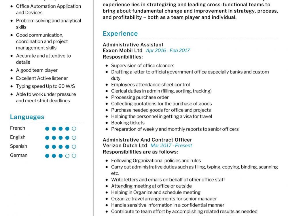 contract officer resume sample resumekraft government contracting 1000x750 skills and Resume Government Contracting Officer Resume
