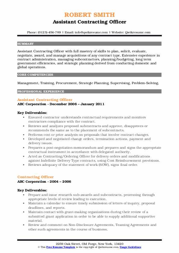 contracting officer resume samples qwikresume government pdf monster free critique Resume Government Contracting Officer Resume