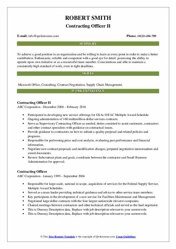 contracting officer resume samples qwikresume government pdf skills and abilities for Resume Government Contracting Officer Resume