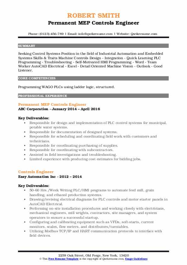 controls engineer resume samples qwikresume pdf project coordinator sample objective for Resume Controls Engineer Resume