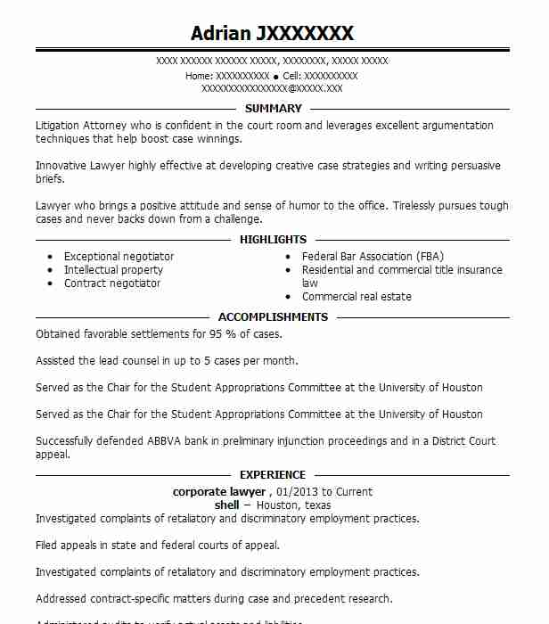 corporate lawyer resume example resumes livecareer transactional attorney shipping clerk Resume Transactional Attorney Resume