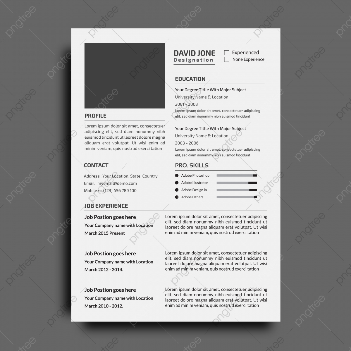 corporate resume or cv design template modern word free professional editable templates Resume Resume Templates 2019 Download