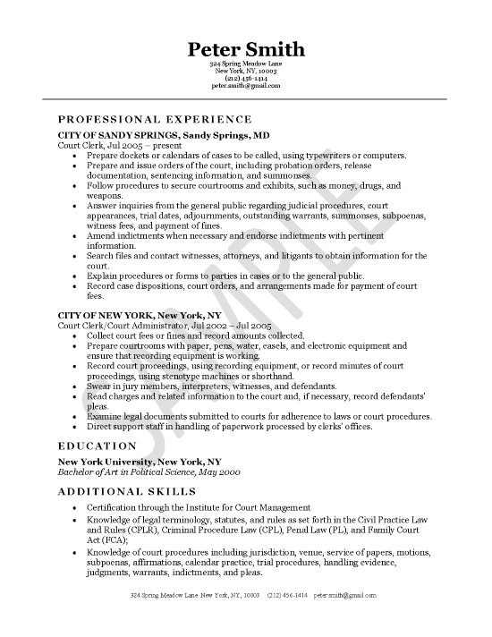 court clerk resume example objective for office exleg10 does your need address industrial Resume Resume Objective For Office Clerk