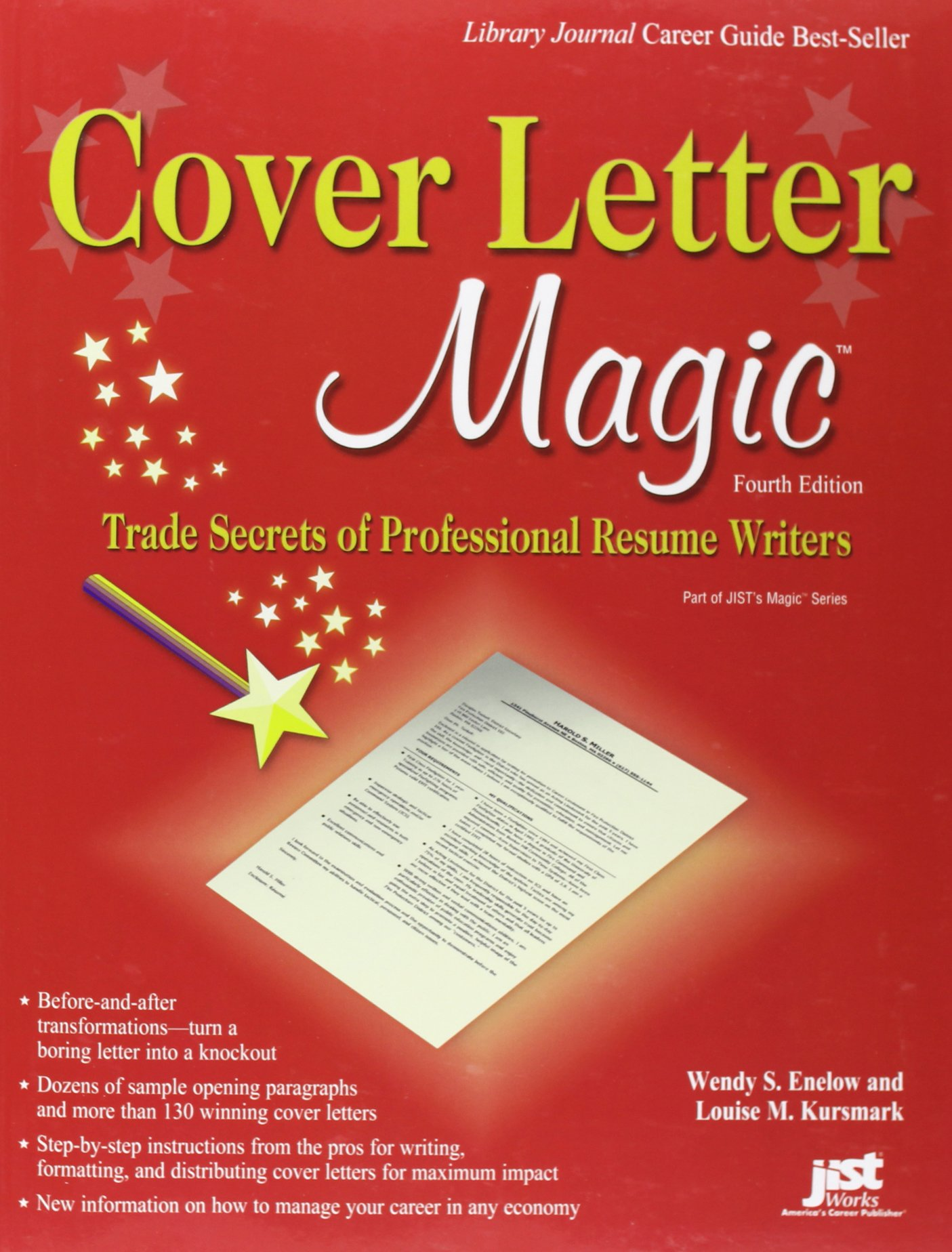 cover letter magic 4th trade secrets of professional resume writers wendy enelow louise Resume Best Books For Resume And Cover Letter Writing