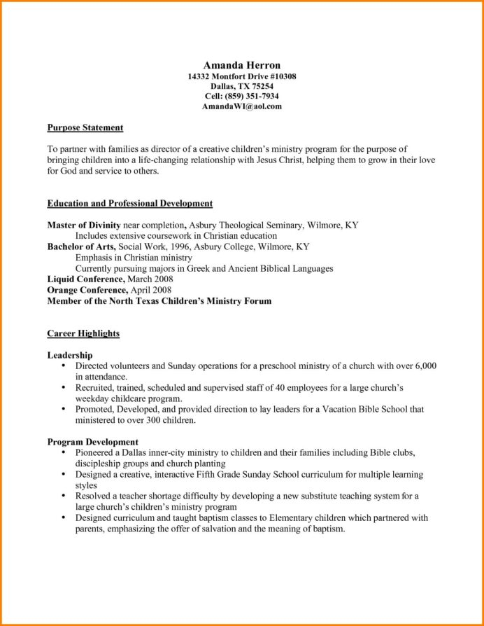 cover letter sample for youth development specialist resume teacher example ministry and Resume Sample Ministry Resume And Cover Letter