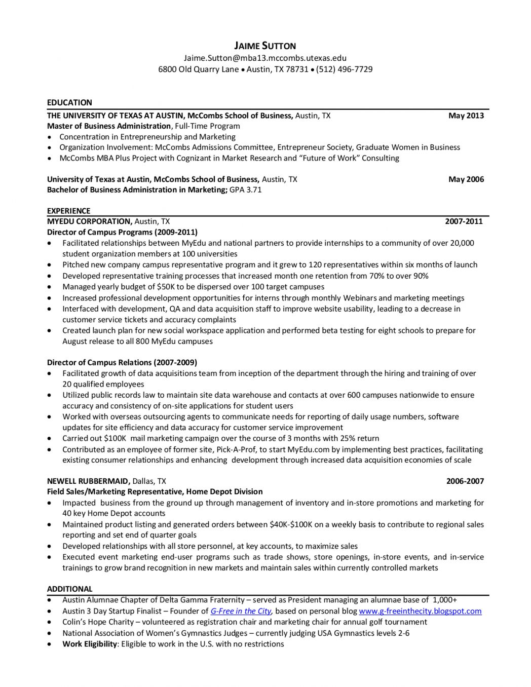 cover letter template mccombs resume format lettering business school engineering project Resume Mccombs Resume Template