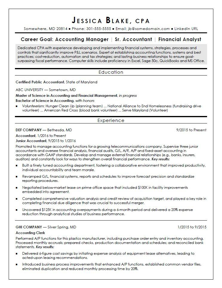 cpa resume sample monster for fresh graduate entry level chief of staff job waitress Resume Sample Resume For Cpa Fresh Graduate