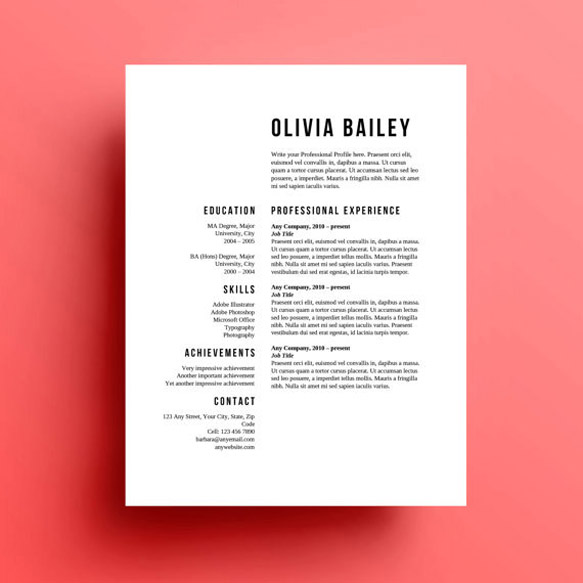 creative and appropriate resume templates for the non graphic designer paste typography Resume Typography Resume Template