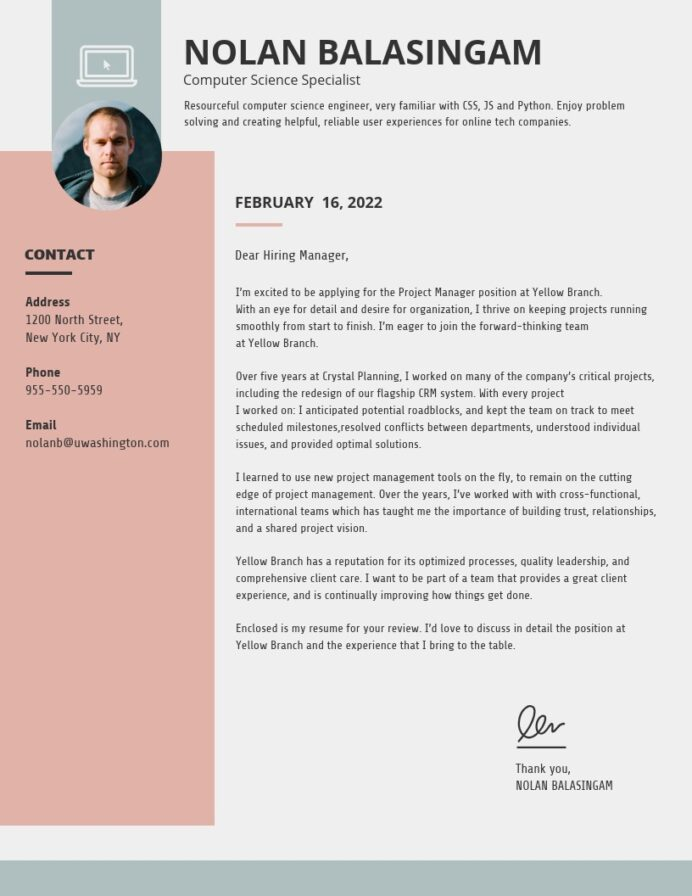 creative cover letter templates to impress employers venngage interior design resume Resume Interior Design Resume Cover Letter
