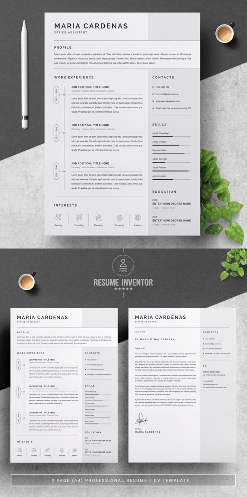 creative dynamic resume cv templates for professional jobs in and en one template Resume Creative And Professional Resume