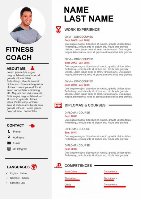 creative resume template to for free word sports on example coaching 456x645 wellness Resume Sports On Resume Example