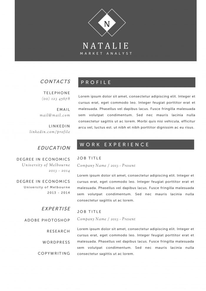 creative resume templates for word you ll them kukook professional examples natalie Resume Creative Professional Resume Examples