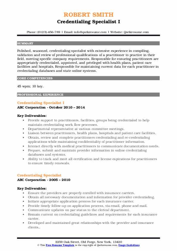 credentialing specialist resume samples qwikresume sample pdf cnc examples auditor people Resume Credentialing Specialist Resume Sample