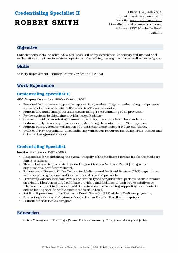 credentialing specialist resume samples qwikresume sample pdf cnc examples declaration Resume Credentialing Specialist Resume Sample