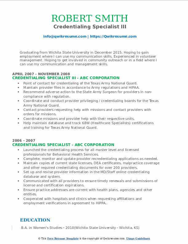 credentialing specialist resume samples qwikresume sample pdf curriculum vitae two sided Resume Credentialing Specialist Resume Sample
