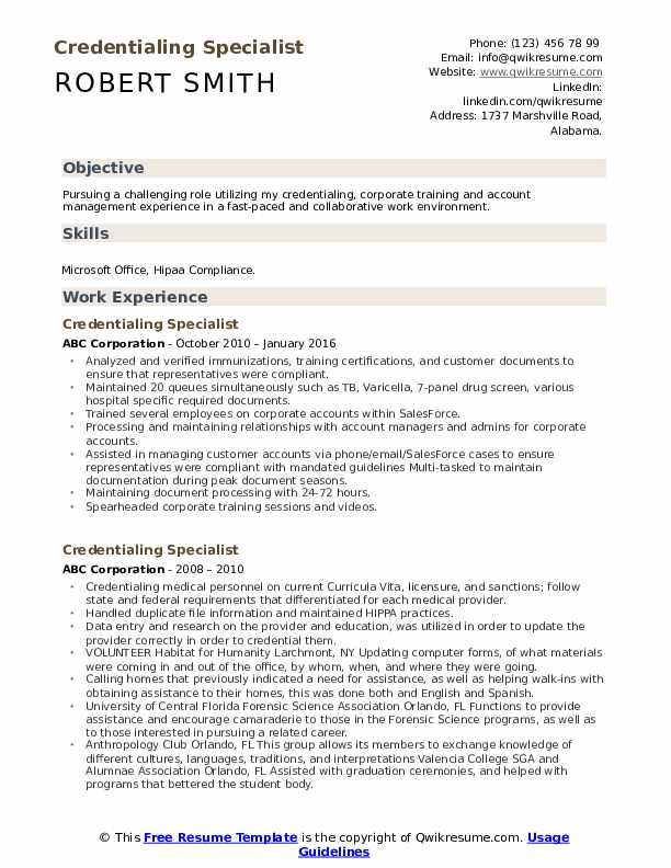 credentialing specialist resume samples qwikresume sample pdf sharepoint change Resume Credentialing Specialist Resume Sample