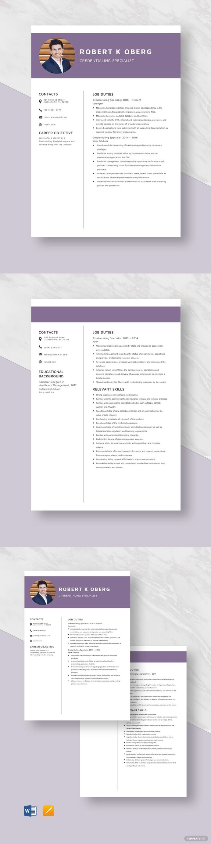 credentialing specialist resume template in illustrator tutorials logo sample sharepoint Resume Credentialing Specialist Resume Sample