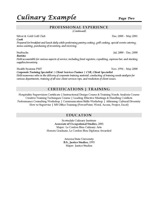 culinary sous chef resume example sample templates job examples technician package Resume Culinary Resume Examples