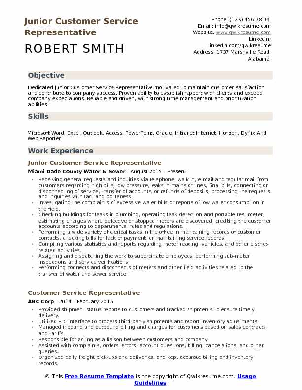 customer service representative resume samples qwikresume template free pdf medical Resume Customer Service Resume Template Free