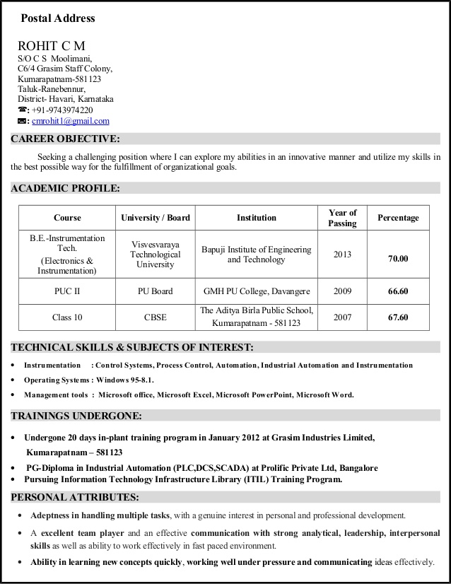 cv electronics and instrumentation engineer with years experienc electronic engineering Resume Electronic Engineering Technology Resume