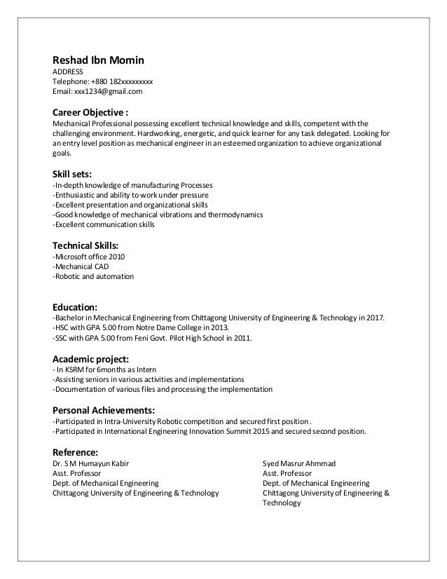 cv entry level mechanical engineer engineering resume beginning of example tableau sample Resume Entry Level Mechanical Engineering Resume