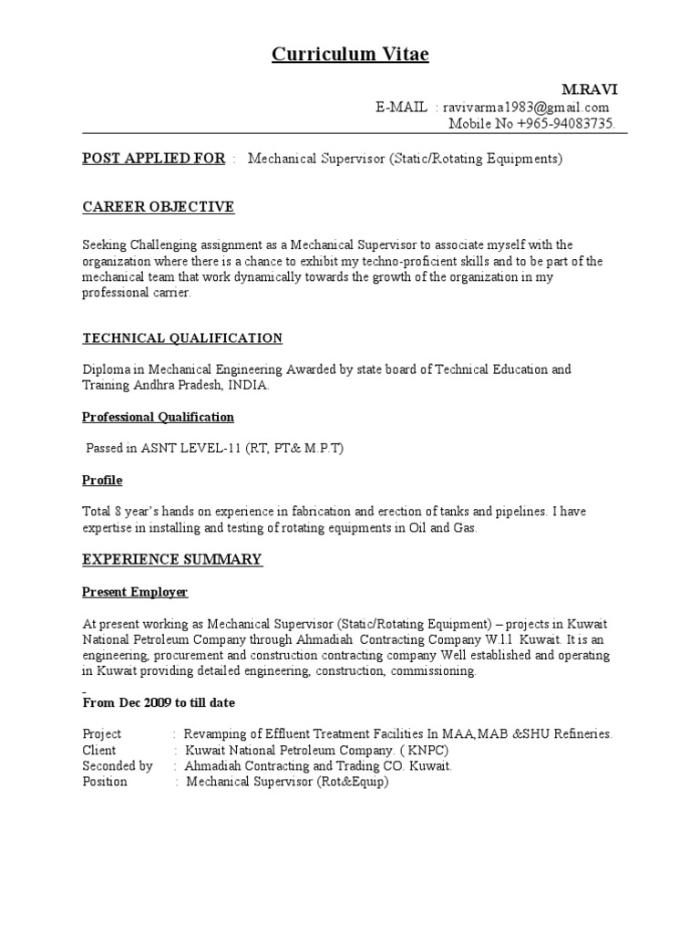cv for mechanical supervisor pipe fluid conveyance piping resume cover letter examples Resume Piping Supervisor Resume