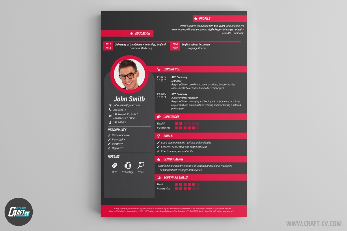 cv maker professional examples builder craftcv creative and resume stanford application Resume Creative And Professional Resume
