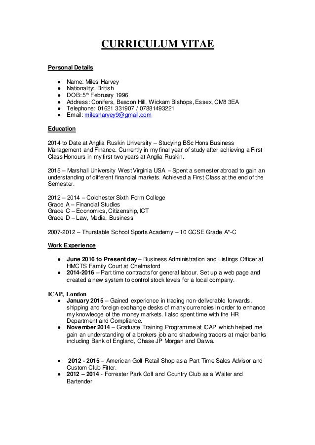 cv miles resume citizenship global mobility manager estimating template with reference Resume Resume British Citizenship