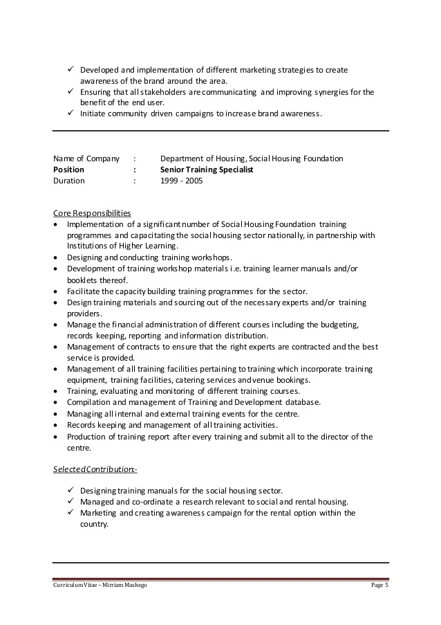 cv of career development specialist february learning and resume covering letter for Resume Learning And Development Resume